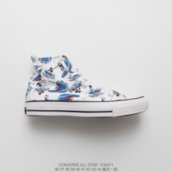 1ck5731 Converse Disney Crossover Centennial Limited Edition Cartoon UNISEX Couple High Duck Shoe