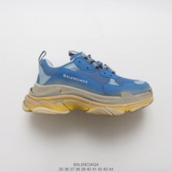 6831afecc1ed Distressed Edition BALENCIAGA 17fw Fall And Winter Balenciaga Triple S  Neaker Fashion Vintage Thick-Soled