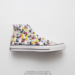 1ck572 Converse Disney Crossover Centennial Limited Edition Cartoon UNISEX Couple High Duck Shoe