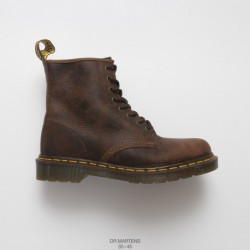 Dr.martens Martin Boots Mad Cow Brown Factory Order Imports Upper Leather Create PVC Factory Lacing Transparent Outsole Flexibi