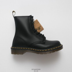 Dr.martens Martin Boots Black Hard Leather Oem Order Imports Upper Leather Build PVC Factory Lacing Transparent Outsole Flexibi