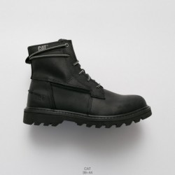 Factory Lacing, Full Upper Leather CAT Outdoor Corium Lacing Up Rough Martin Boots British Mens High Working Wear Shoe