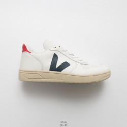 Simple must-Have, absolutely all-match Oh Instagram Hot Cake French National White Skate Shoes Veja V-10 Leather Extra Sneakers