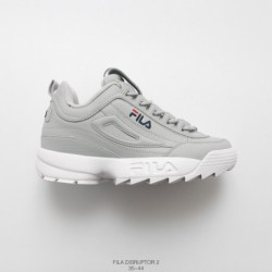 , UNISEX Fila FILA /DISRUPTOR II Destroyer 2nd Generation Trainers Shoes Sawtooth Thickened Slip Increased Wearing Sol