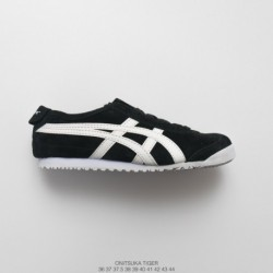 , FSR Yaseshi ONITSUKATIGER MEXICO 66 Ghost Tiger New Colorway Leather Upper Slip-Ons/Loafers casual racing shoe