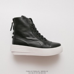 039-02 factory lacing, top-grain Leather The Weekend X Puma XO Parallel Thickened Lacing Up High Zipper Shoe