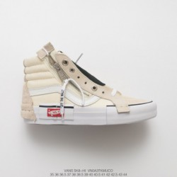 Tribute Ow X Nike Fars Deadstock Vans Vault Sk8-hi Cap LX Deconstruction High Duck Skate Shoes High White Style Code:VNOA 3tkmu