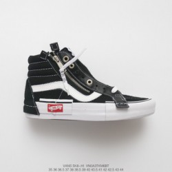 Tribute Ow X Nike Fans Deadstock Vans Vault Sk8-hi Cap LX Deconstructionism High Duck Skate Shoes High Black And White Style Co