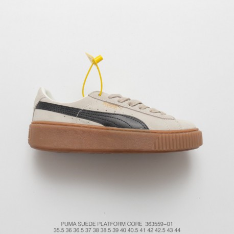 0a82c99cc66181 559-01 Original File Data Development PUMA Suede Platform Rihanna Thick-Soled  platform shoes