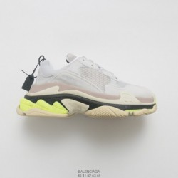Mens, factory lacing lasted, 7-layer Combination Abrasives Outsole BALENCIAGA 18fw Autumn And Winter Balenciaga Triple S Neaker