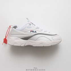 2da87b38b Increased Preference Fila Vintage Casual Hard Wearing Leather Upper Thickh  Sportshoe