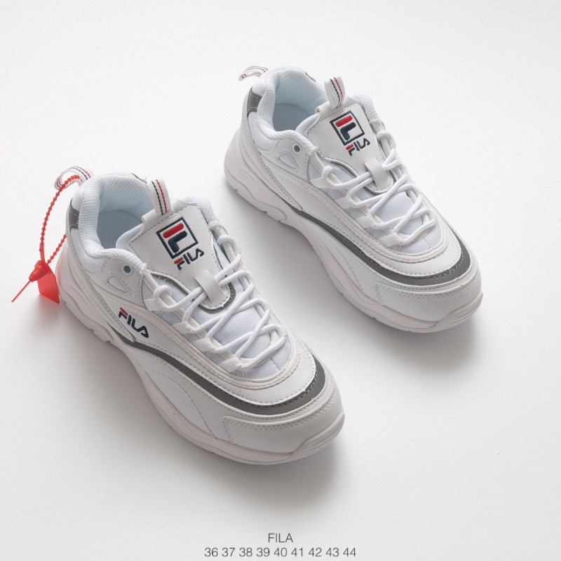 1dd8ff5ad ... Increased Preference Fila Vintage Casual Hard Wearing Leather Upper  Thickh Sportshoe