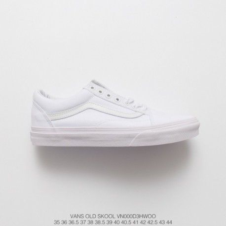 Summer Vans Old School Whole White Full Duck Classic Low True Vulcanize Suede Couple Shoes Style Code:VN000D3HW0