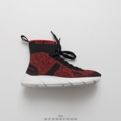 Dior socks shoes dior homme 2018 spring shoppe edition, technology knitting racing shoe