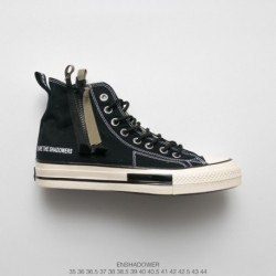 High street function enshadower/ Enshadower Function Ribbon Zipper Shoe Based On Converse, The Zipper Is Transformed By The Per