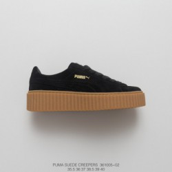 34f3cd8bcf02fc ... Thick-soled Platform Shoes Distinguish The So-called Rubber Synthetic  Bottom · PUMA-Suede-Creepers-Rihanna-Collection-Rihanna-PUMA-Creepers-