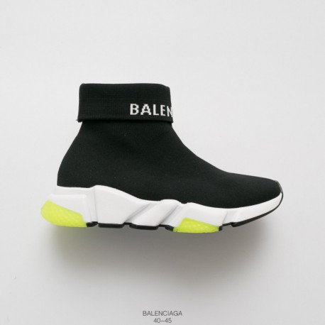 Mens, Dongguan Double Layer Combination Hard Wearing Original Sole Luxury Brand BALENCIAGA Speed stretch-knit Mid Knitting So