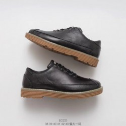 ECCO/ECCO Official Website Deadstock Casual Fashion Men's British Style Small Leathershoe
