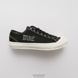 Japan Limited Edition, UNISEX NEIGHBORHOOD G.R./C-SNEAKER Classic 18ss Nbhd Factory Lacing Vulcanize Craft Production Internal