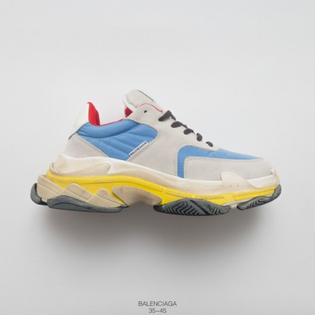 514e7ceed Vintage Dad Sneaker Balenciaga Triple S Neaker Fashion Vintage Thick-Soled  old sneaker