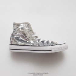 924c Foot Disco, Womens Converse Chuck Taylor All Star Sequin Hi Classic High Vulcanize Skate Shoe