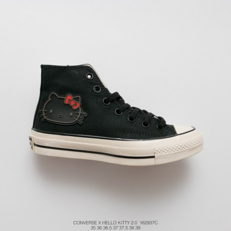 373ded305a80 937c Converse X Hellokitty 2.0 Heavy Launch Strike In The Classic 1970s In  Black And White