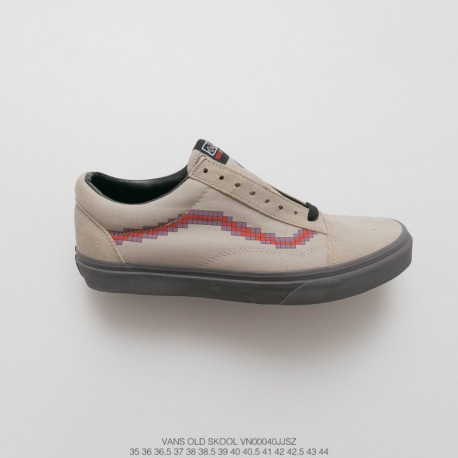 ed9c147f172430 VN00040JJSZ Vans X Nintendo Crossover Factory Lacing Original Vulcanize  Outsole Sole Painted Fakes Can t