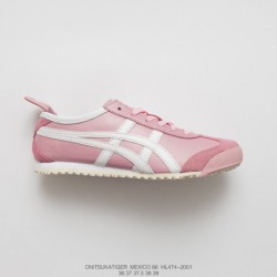 Hl474-2001 Upper FSR Onitsuka Tiger MEXICO66 Collection Womens Vintage Classic All-Match leisure shoe whit