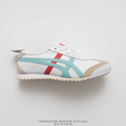 Hl474-0140 Upper FSR Onitsuka Tiger MEXICO66 Collection Womens Vintage Classic All-Match leisure shoe green red whit