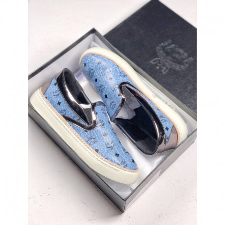 MCM Visetos Slip On Luxury Brand Factory Lacing Original Box Fabric Select MCM Bag Exclusive Upper Leather Outsole Exclusive Or