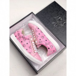 MCM Visetos Slip On Luxury Substance Launched Limited Edition Angel Visetos Angel Collection Pink Black Print Slip-ons/loafers