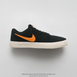 896-081 Mens, Aliexpress, Vulcanize Nike SB Check Solar Cnvs Prm Low All-Match duck skate board shoes black orange 4006682