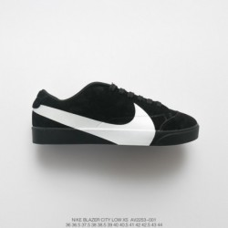 AV2253-001 FSR, UNISEX Nike Blazer City Low LX Big Swoosh Skate Shoe