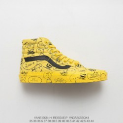VANSX Peanuts Snoopy Limited Edition Collaboration Edition Snoopy Crossover Os Peanut Manga Doodle High Sk8 Skate Shoes Style C