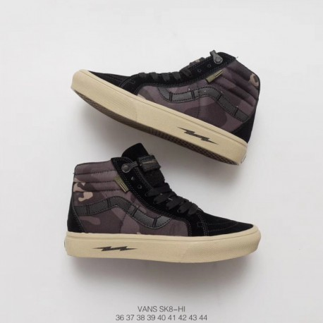 17fb09623 Lightning VANS Sk8 PRO Military Camouflage Tide High Nuclear War DEFCON  Cooperatio