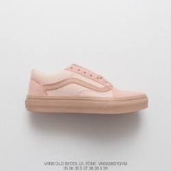 New Colorway VansOld Skool Cherry Blossom Powder Classic Low Collection Duck Shoe