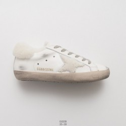 Pro cotton-wool Blend, Factory Lacing, Italy Fashion Brand Golden Goose GGDB/Golden goose uomo/Donna donna collection old and d