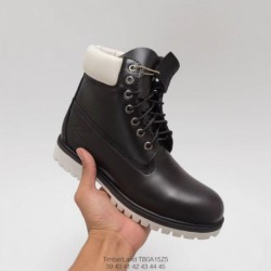 Premium Is Not Bad. Timberland High Black And White Boots - premium full grain leather and matte leather manufactur